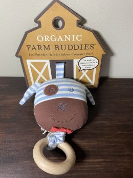 Organic Farm Buddies Waggling Pull Toy - Boxer Dog