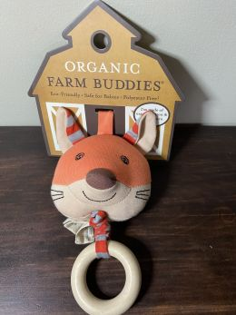 Organic Farm Buddies Waggling Pull Toy - Frenchy Fox