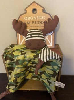 Organic Farm Buddies Blankie - Marshall Moose