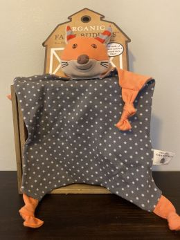 Organic Farm Buddies Blankie - Frenchy Fox