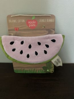 Organic Cotton Mini Crinkle Blankie - Watermelon