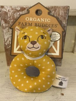 Organic Farm Buddies Charlie Cheetah Rattle