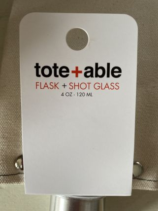 Tote + Able Flask & Shotglass- C